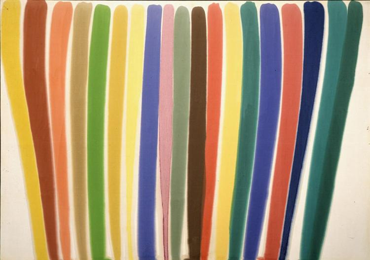 where 1960 by morris louis mature works color field painting abstract