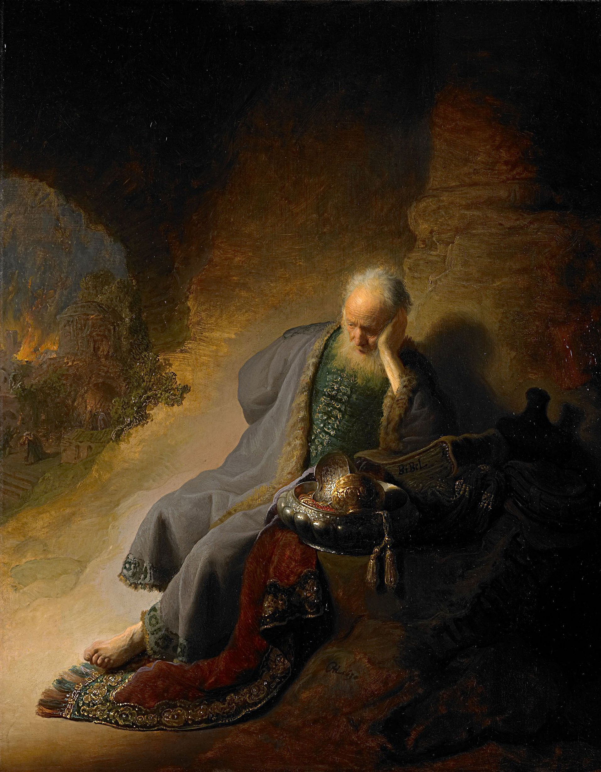 rembrandt harmensz van rijn jeremiah lam