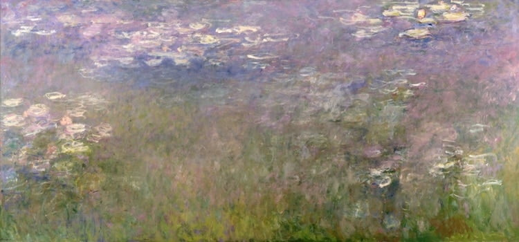 water lilies by claude monet c 1915 1926 photo the nelson atkins museum of art via wikimedia commons public domain