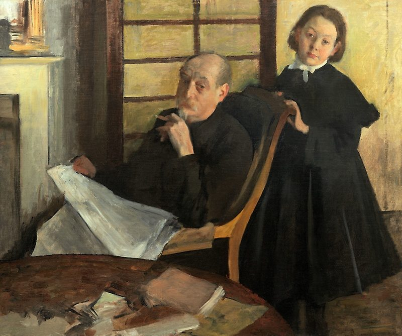 51a1041f henri degas and his niece lucie degas the artists uncle and cousin the art institute of chicago