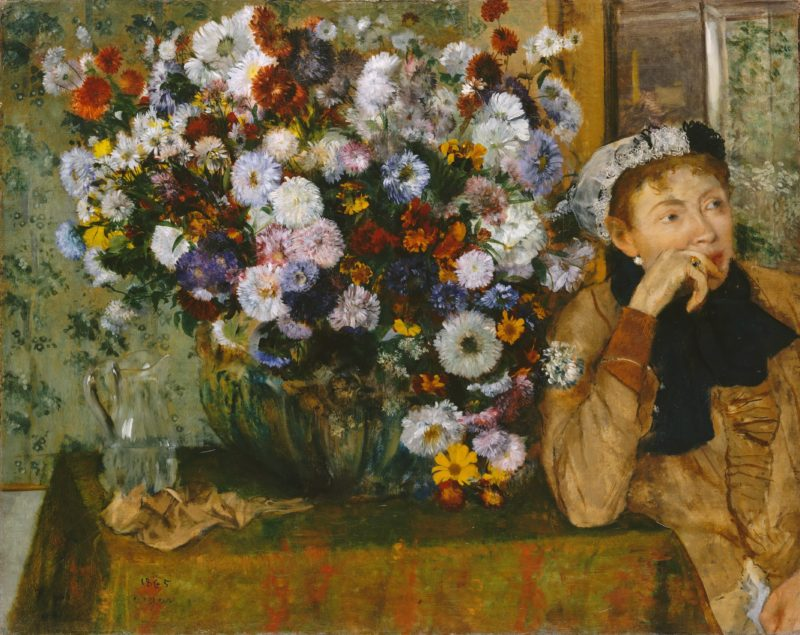 6948a1c6 degas a woman seated beside a vase of flowers madame paul valpinccca7on
