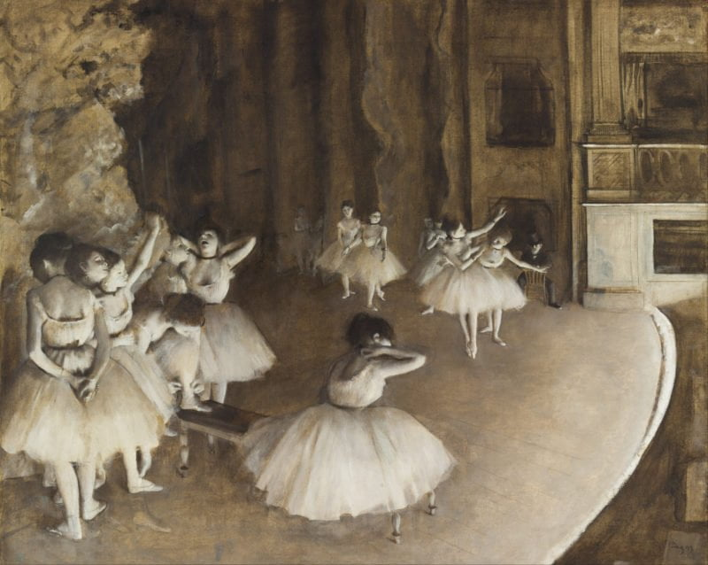 c7a9905a edgar degas   ballet rehearsal on stage   google art project