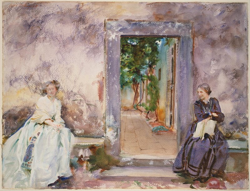 12e542d3 the garden wall painting by john singer sargent