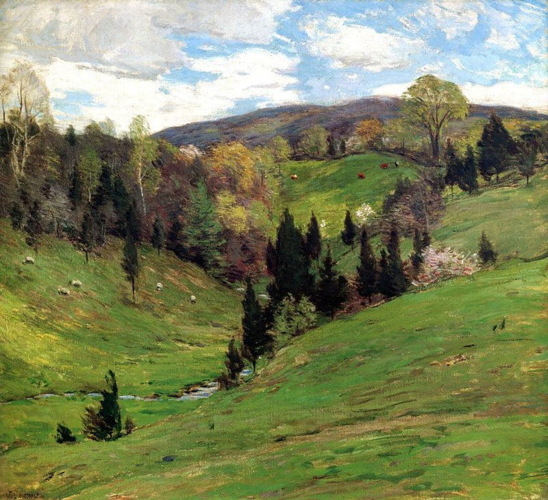 Composición-pintura-willard-metcalf
