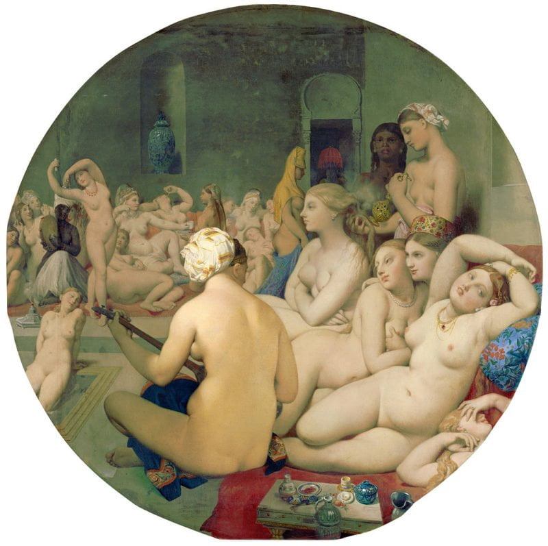 6b41f7c0 le bain turc by jean auguste dominique ingres from c2rmf retouched