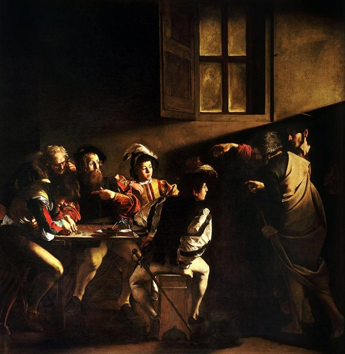 caravaggio the calling of saint matthew 1599 1600