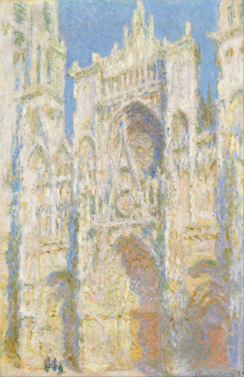 1200px claude monet   rouen cathedral west faccca7ade sunlight   google art project
