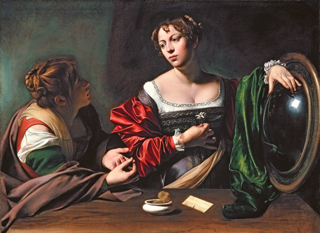 michelangelo merisi da caravaggio   martha and mary magdalene   wga04101