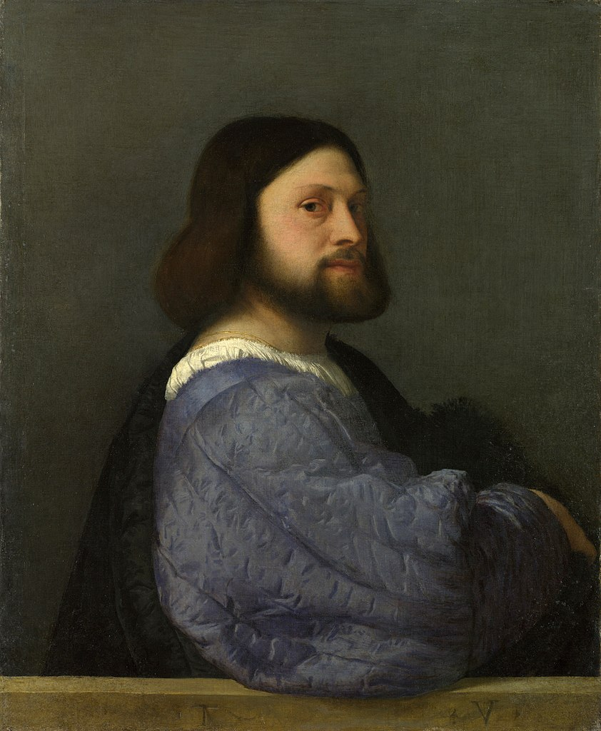 842px titian   portrait of a man with a quilted sleeve