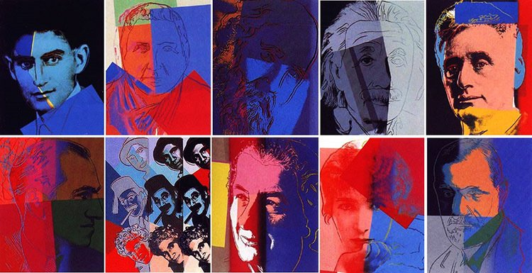 Obras Famosas de Andy Warhol - Ten Portraits of Jews from the Twentieth Century