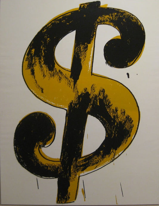 Obras Famosas de Andy Warhol - Dollar Sign