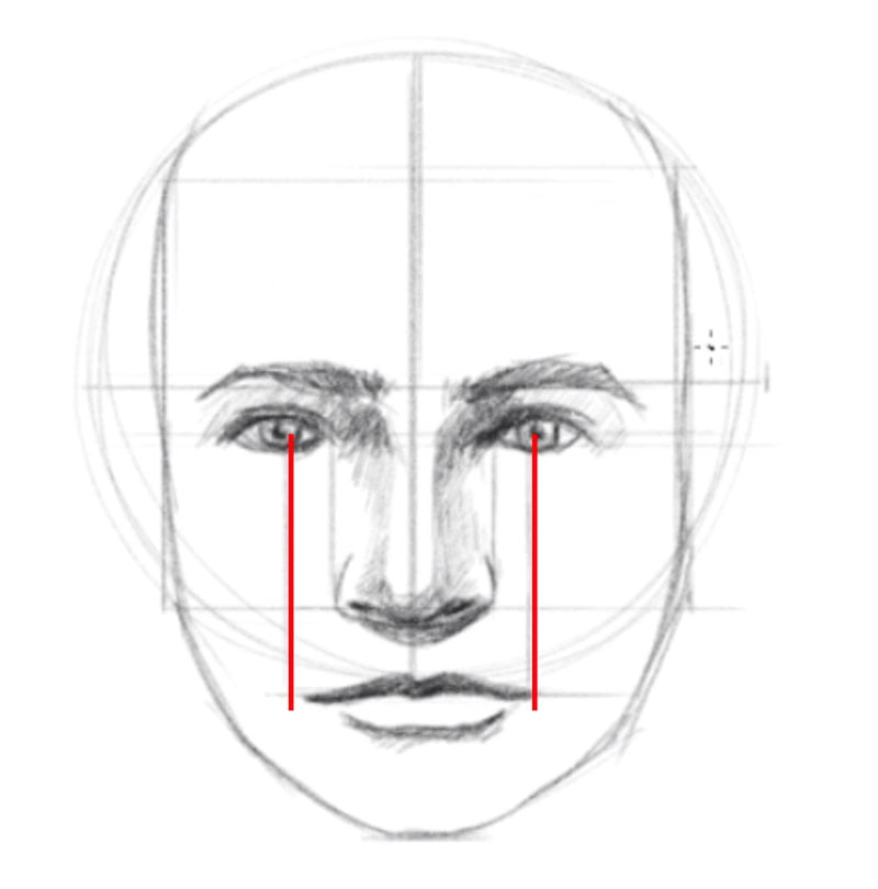 how to draw a face step seven draw the mouth