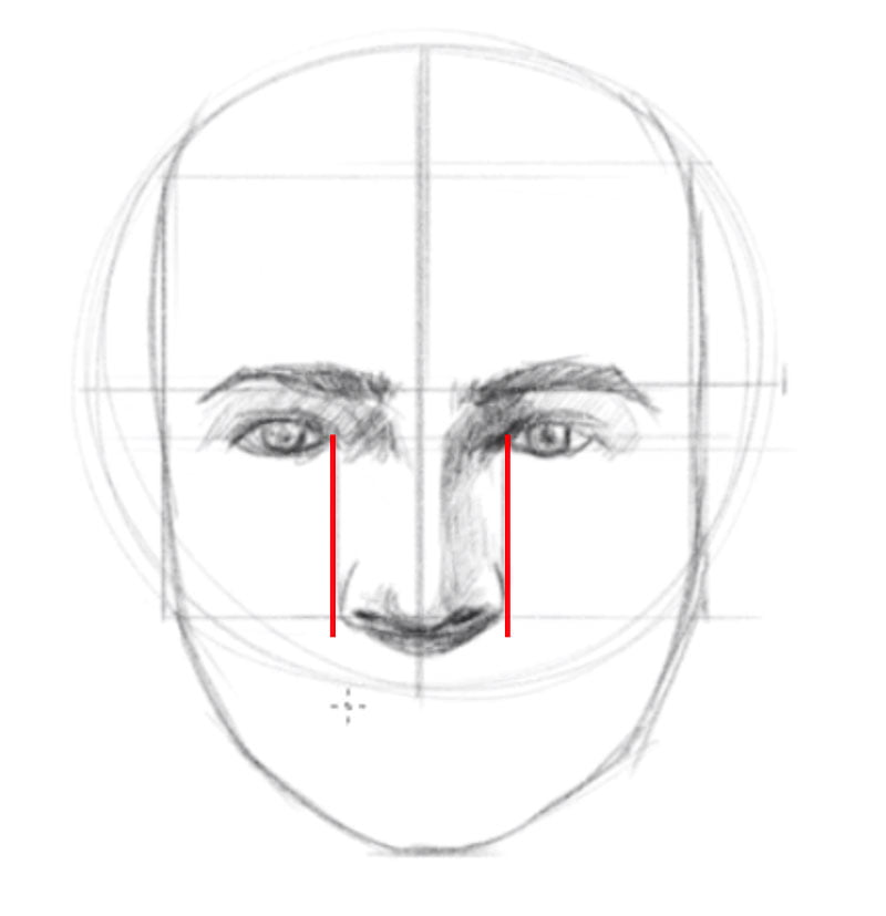 how to draw a face step six draw the nose