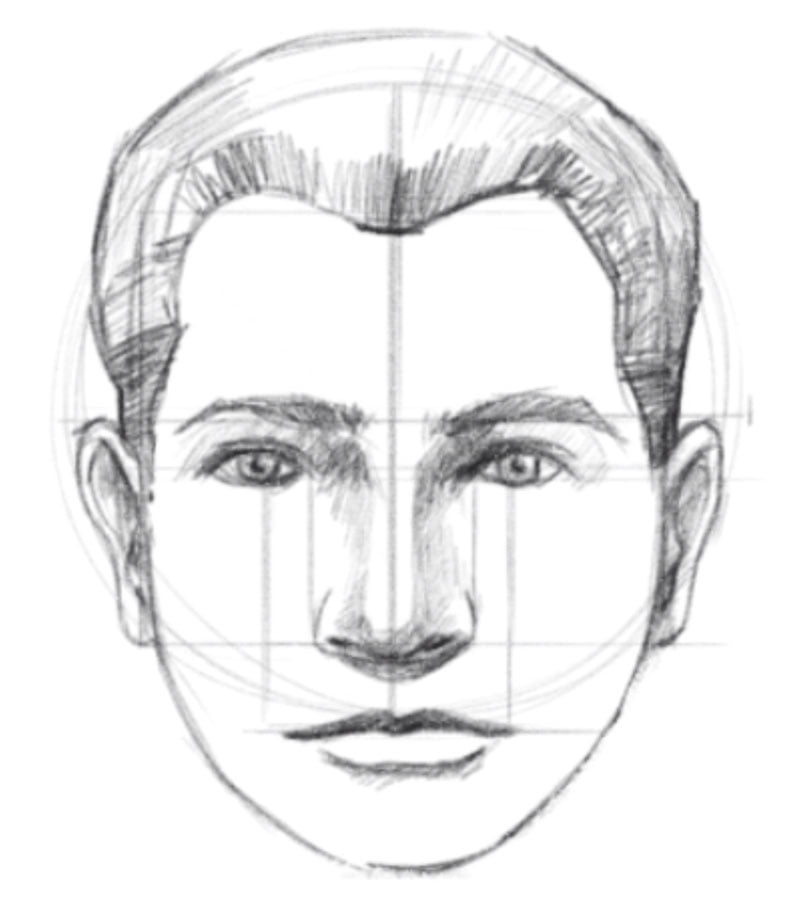 how to draw a face step ten draw the hair